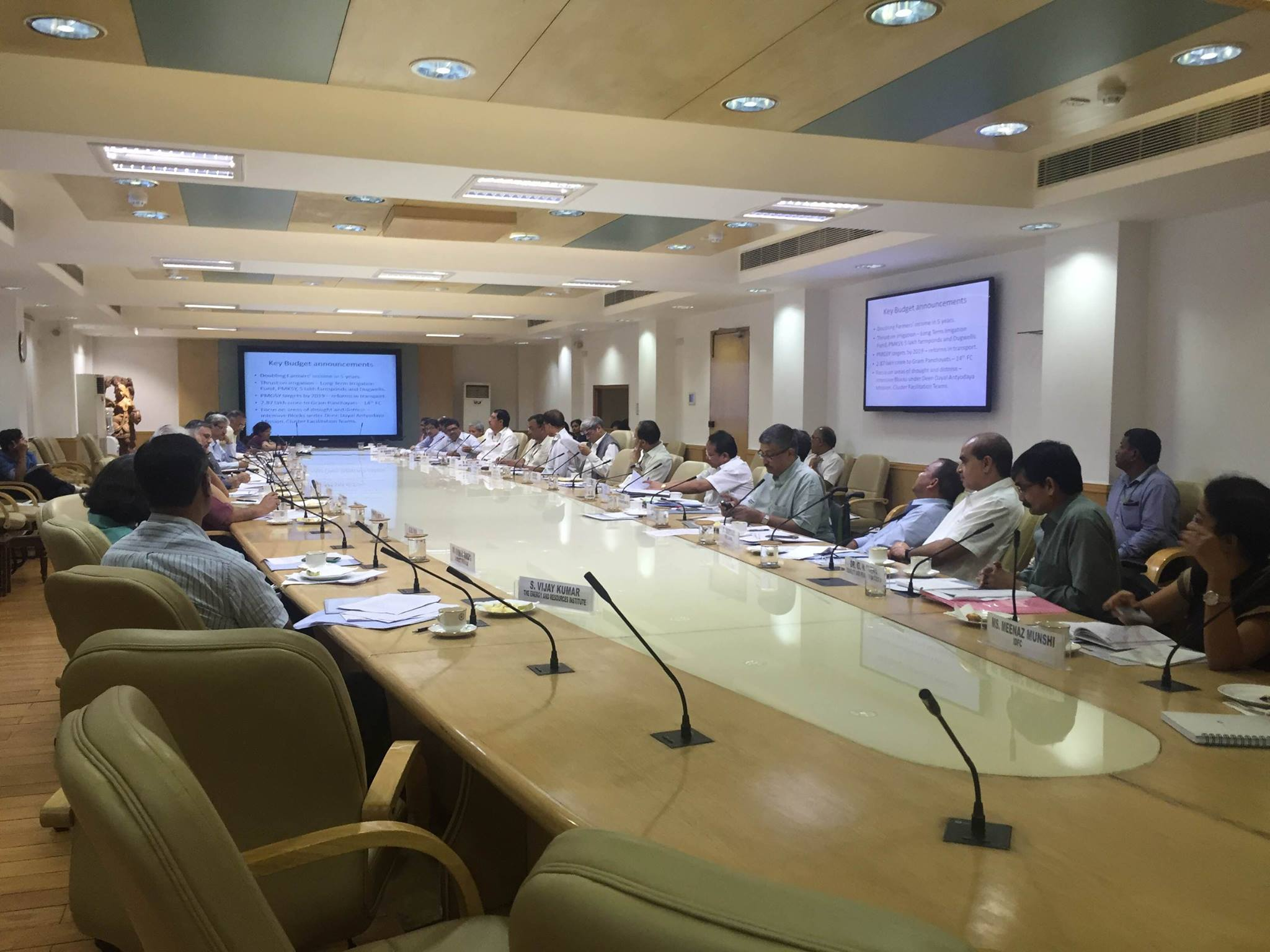 Meeting on 'Vision, Strategy and Action Plan on Rural Economy, Safety Nets and Social Inclusion' organised by NITI Aayog in preparation of the Vision 2030 document on 11th August, 2016