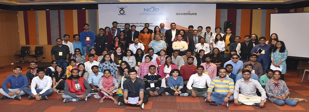 Group Photograph of the participants at the 4th National Convention of Youth with Disabilities held on 9th & 10th November, 2017 in New Delhi.