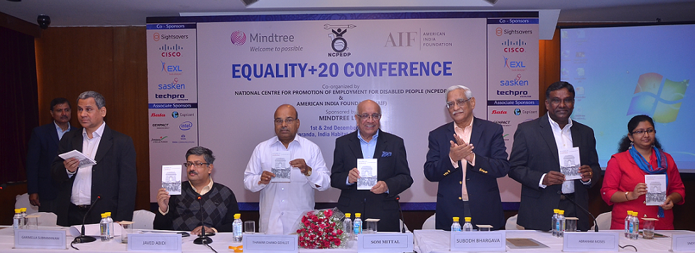 Unveiling the '20 Stories of Change' book by the Hon'ble Minister for Social Justice & Empowerment, Shri Thawaar Chand Gehlot on the 2nd day of the Equality+20 Conference on 2nd December, 2015.